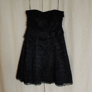 Jessica Simpson Black Lace Ruffle Dress